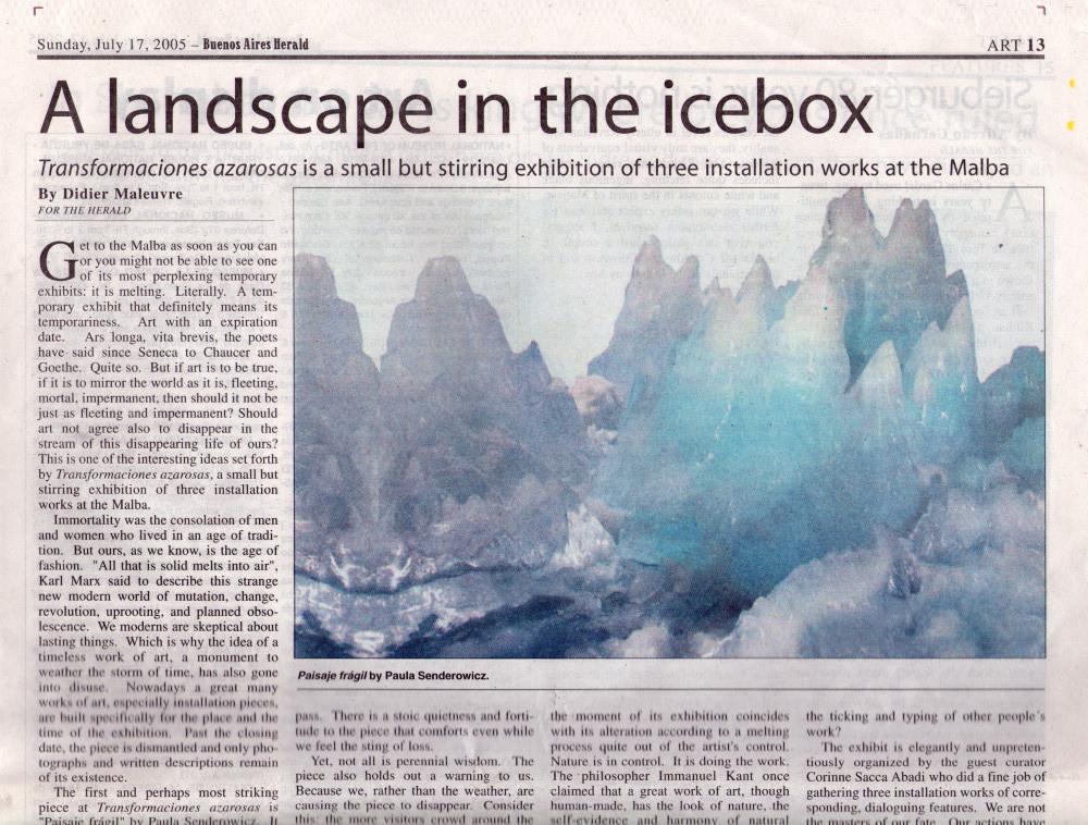 Buenso Aires Herald Malba 2005