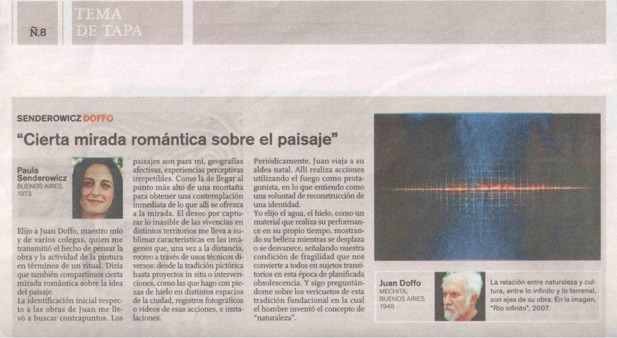 Nota Diez artistas eligen a sus maestros, revista Ñ Paula